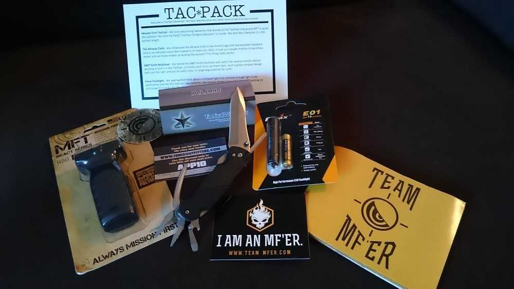 Tacpack Subscription Box Review - November Box Pictures