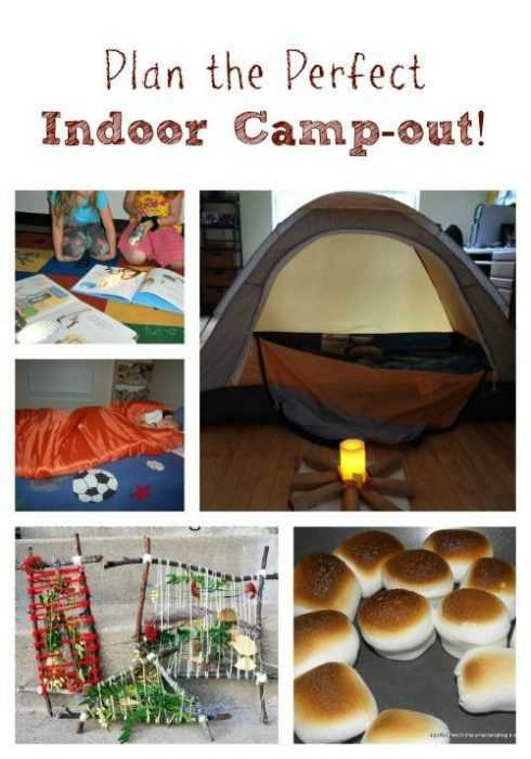 Fun Things To Do On A Snow Day With Friends - Indoor Camp Out