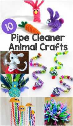 Snow Day Crafts For Preschoolers - Pipe Cleaner Animal Crafts