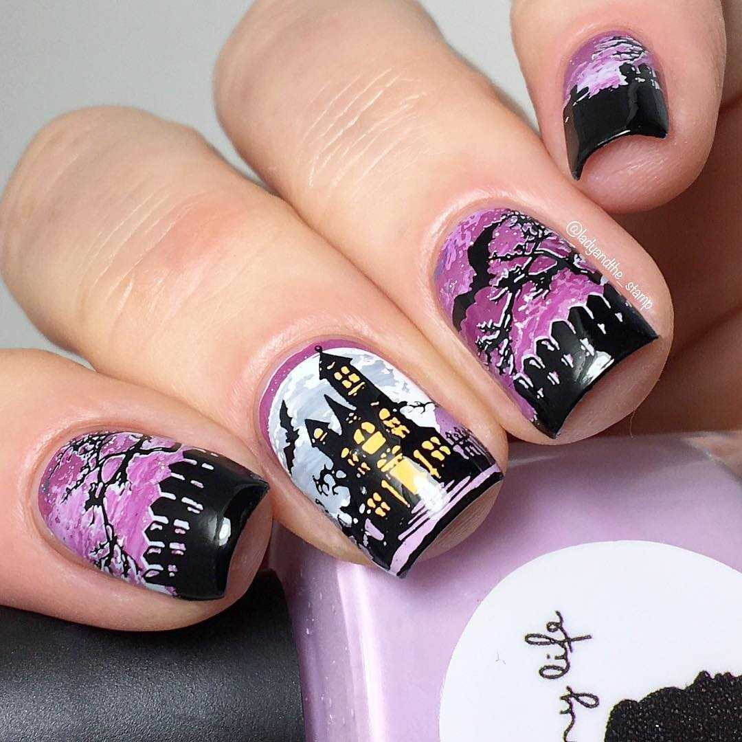 Halloween Nail Art - Lady And The Tramp