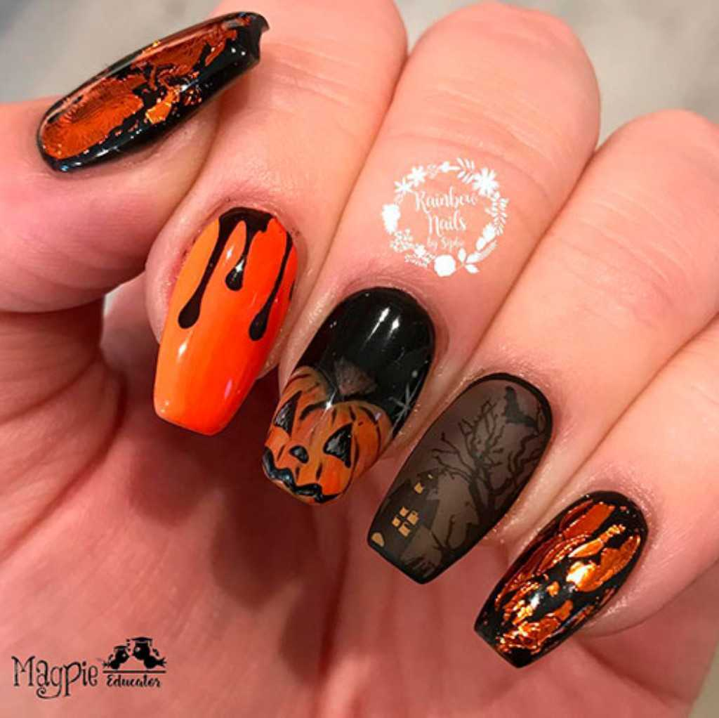 Halloween Nail Designs - Spooky