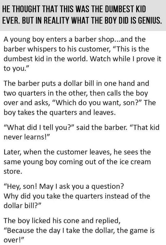 Short Story Hilarious One About A Child That Plays The Long Game