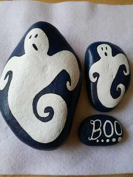 Halloween Rock Painting Ideas  Ghosts And Boo