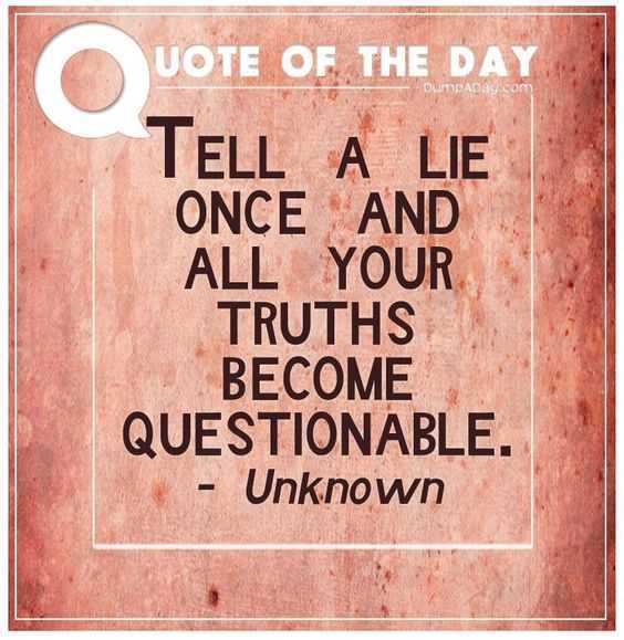 Quote About Lies