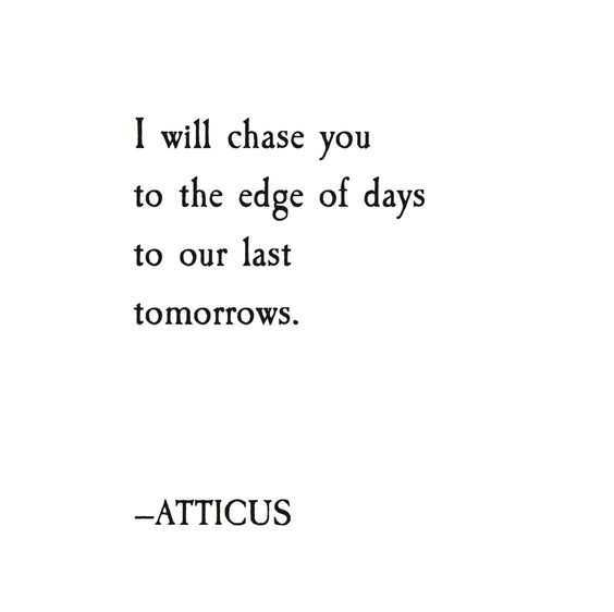 Poetic Quotes  Chasing You