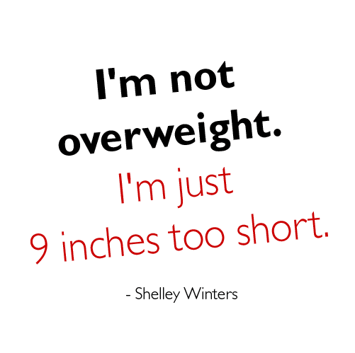Funny Food Quotes  Overweight