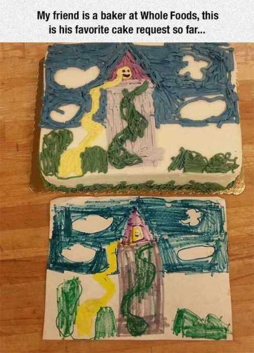Hilarious Funny Pictures  Child'S Painting Cake
