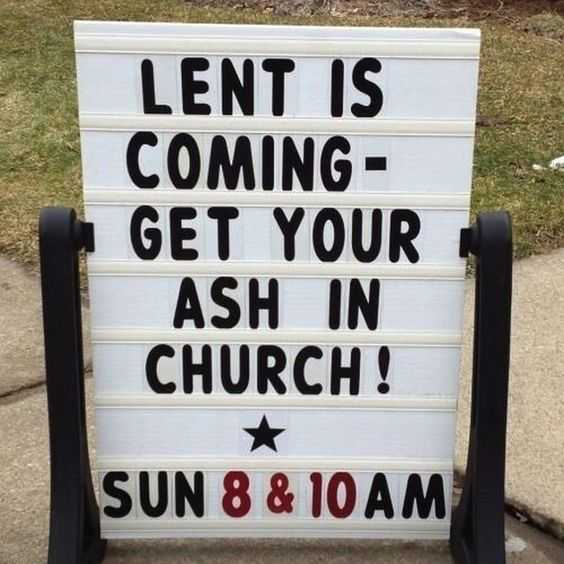Funny Church Signs  Lent