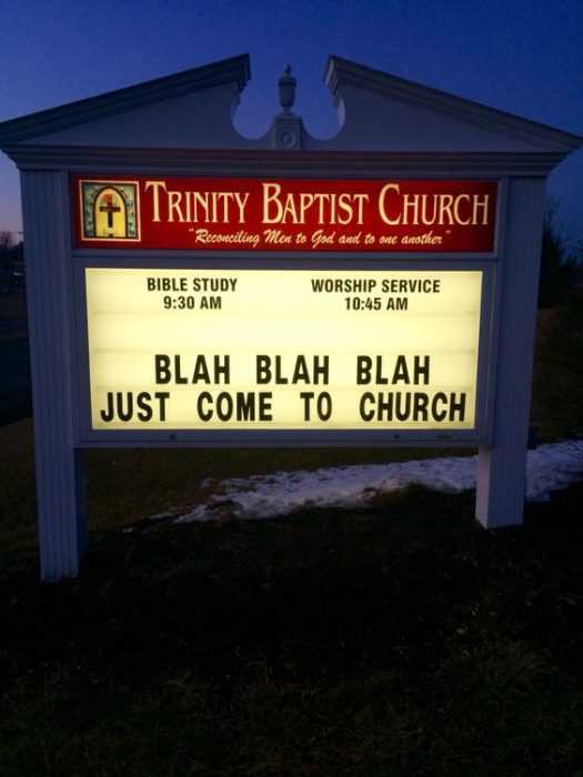 Funny Church Signs  Come To Church