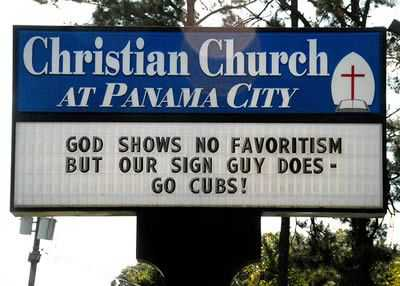 Funny Church Signs  Favoritism