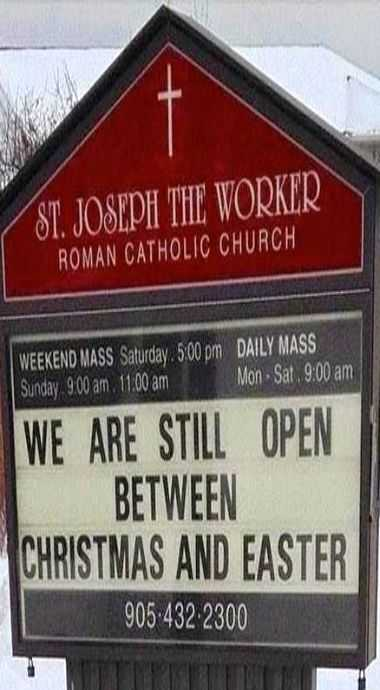 Funny Church Sign  Open For Business