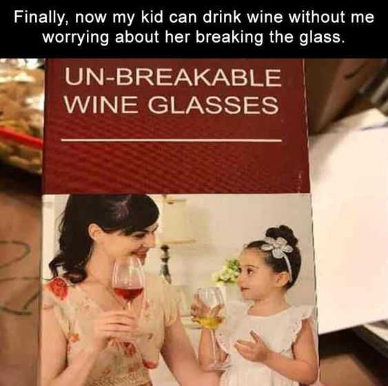 Hilarious Funny Images  Just Worried About The Glass Huh?