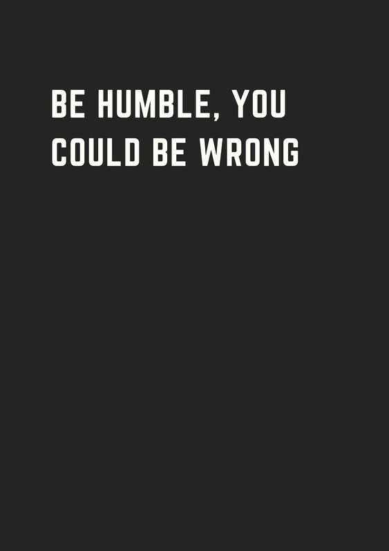 Quote Be Humble