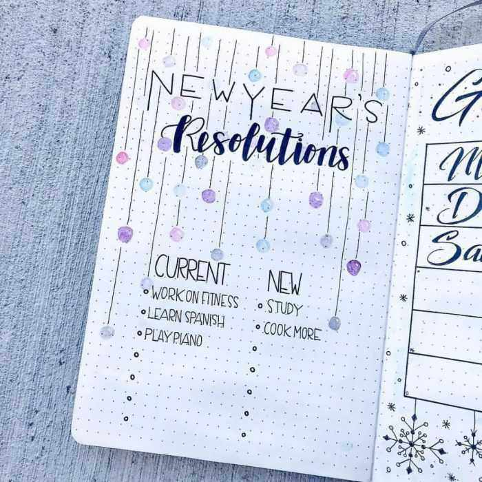Bujo New Years Res