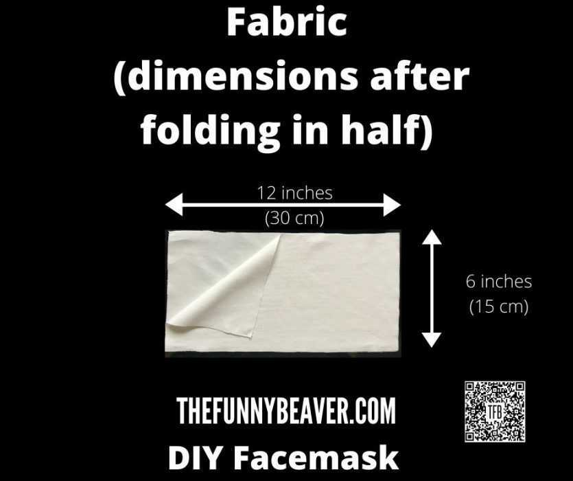 Diy Home Made Face Mask Instructions  Step 1