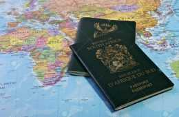 South African Passport On Map