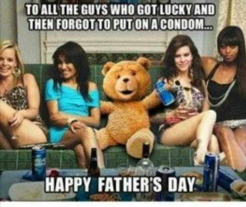 Ted Cheering All Guys Out There Who Got Lucky But Forgot Condom