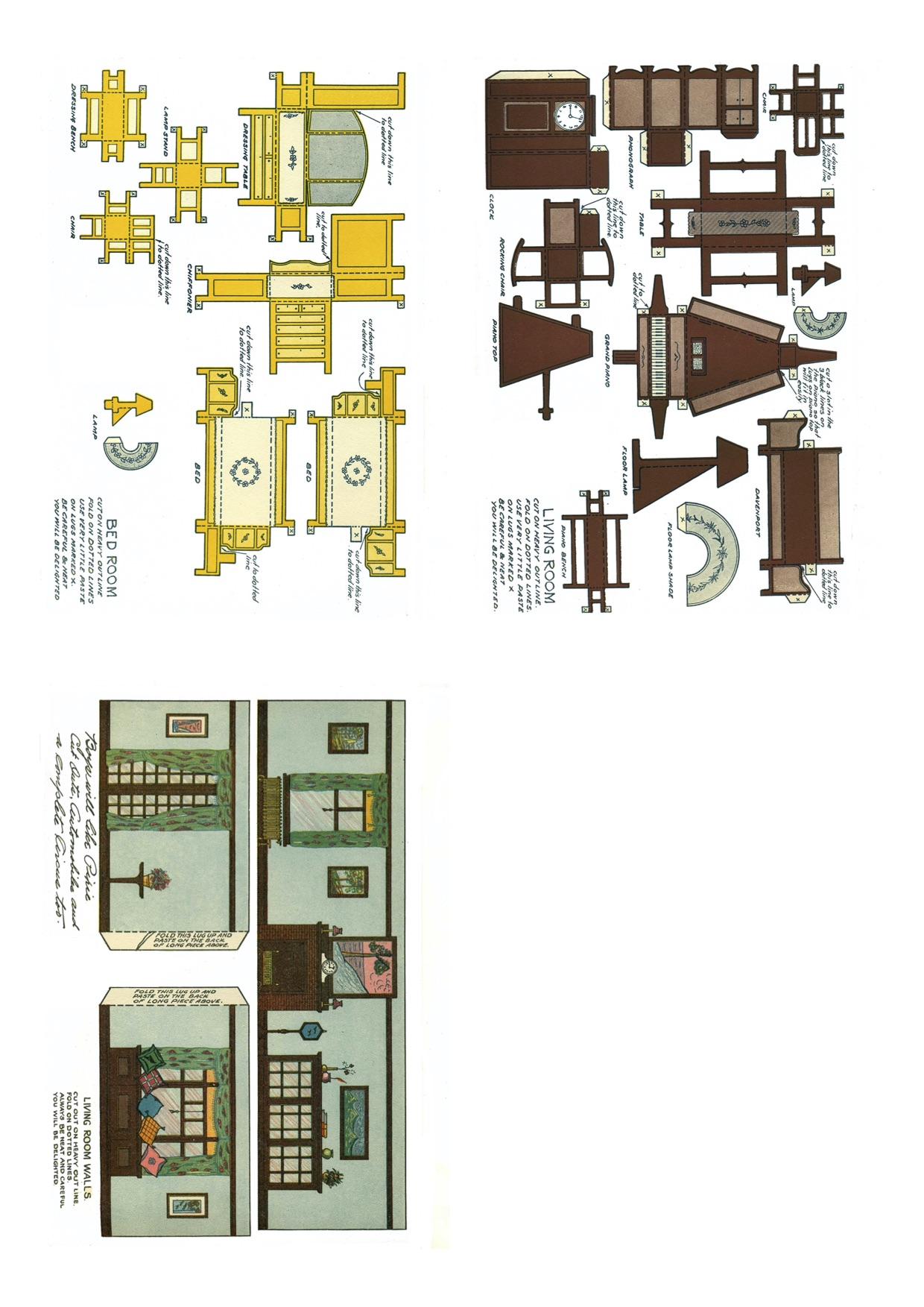 1920 Furniture And House Paper Cutout 1