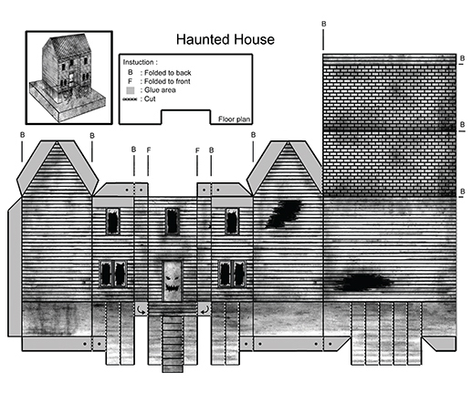 Haunted House Paper Cutout 1