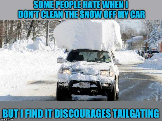 Texas Freeze Memes  Carrying Around Snow Texas On Car Roof