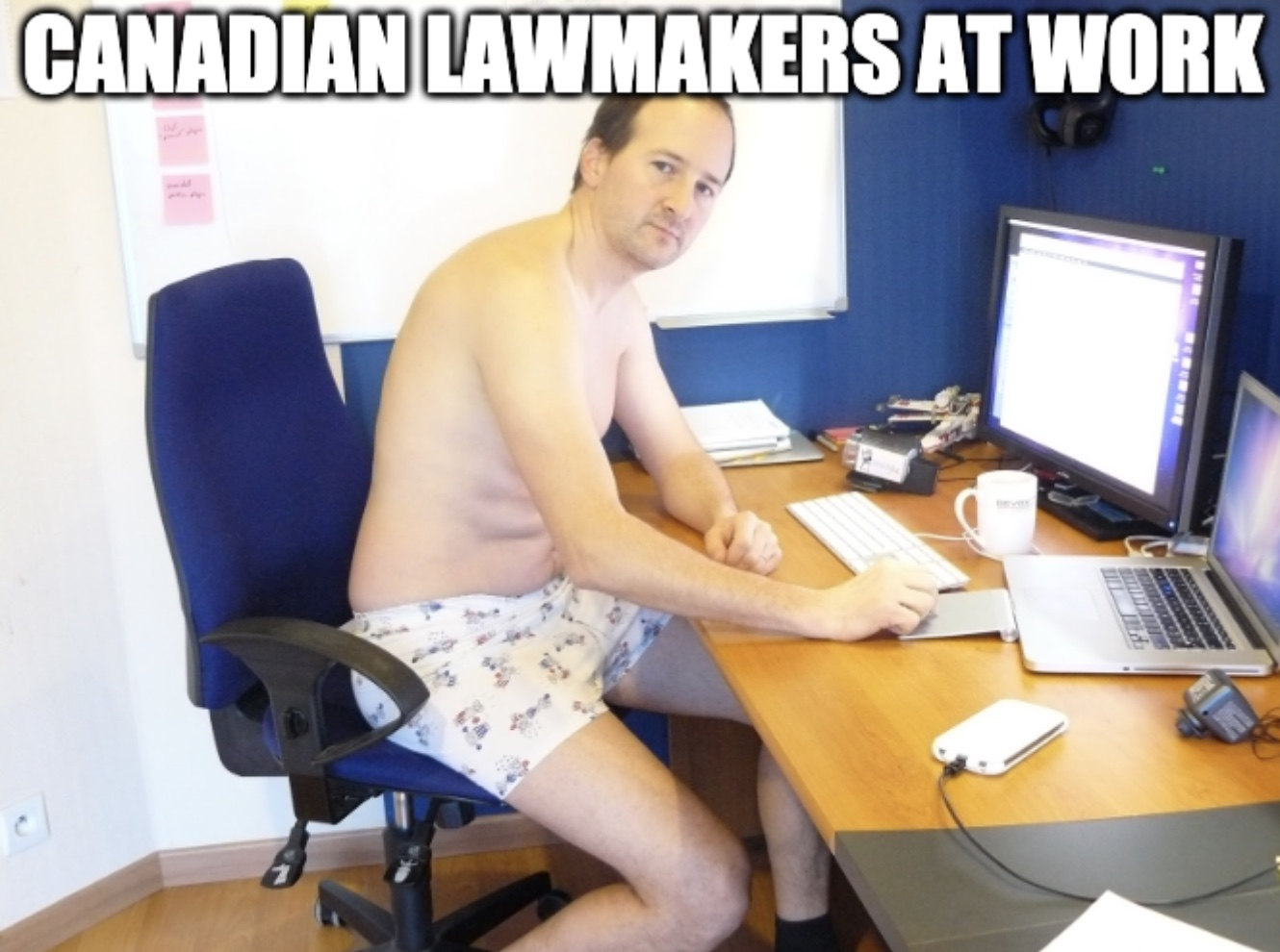 Canadian Law Maker Caught Urinating On Camera Meme