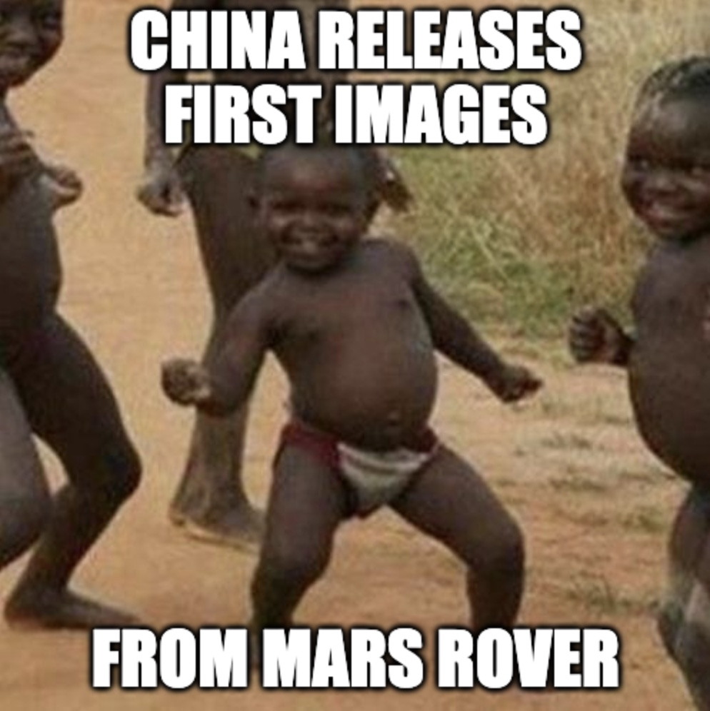 China Released First Mars Rover Pics Meme
