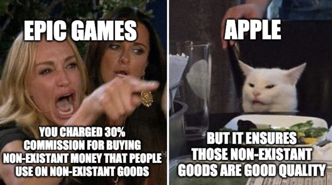 Apple And Epic Games Meme