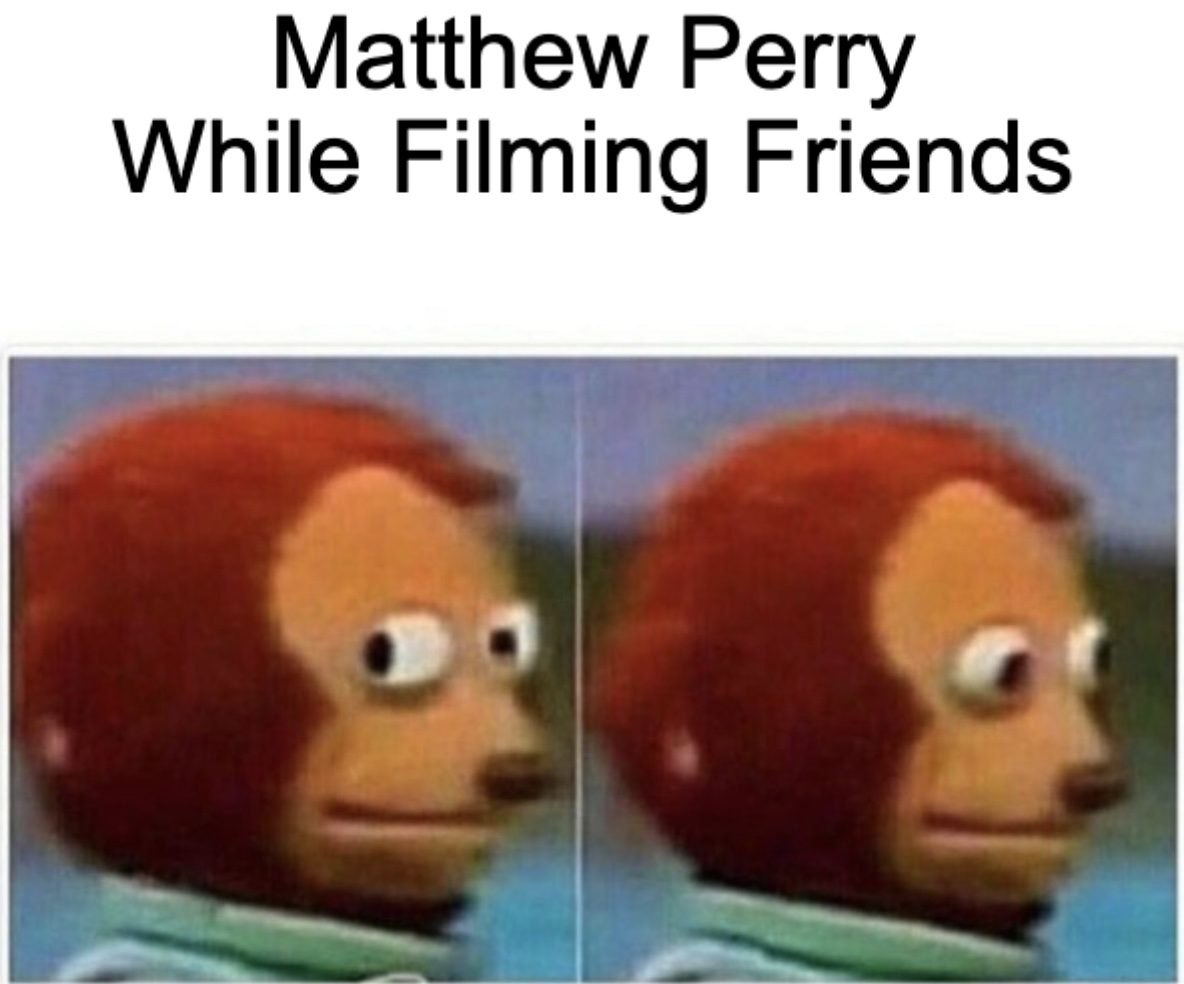 Matthew Perry Had Anxiety While Filming Friends Meme