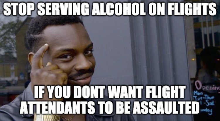 American Airlines Stops Serving Alcohol On Flight Meme