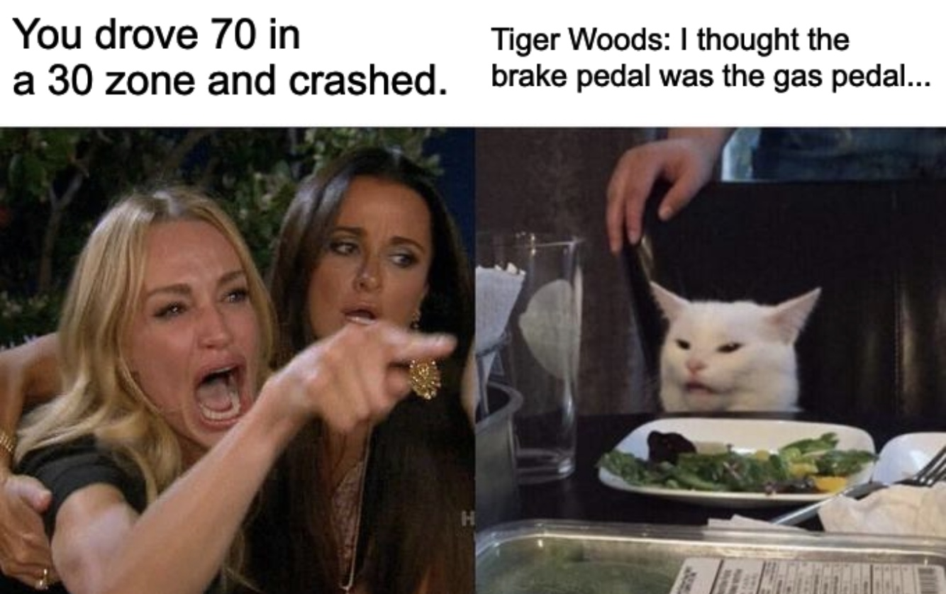 Tiger Woods Talks About His Accident Meme