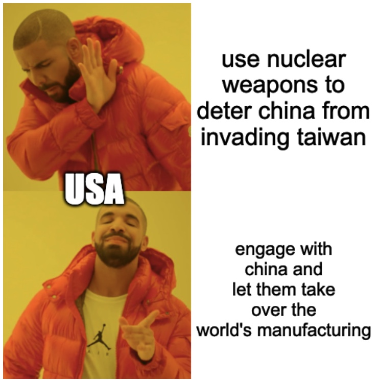 Us Considered Nukes To Deter China Meme