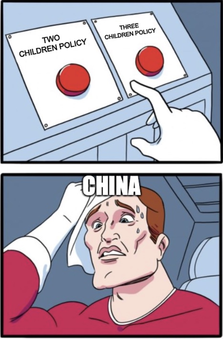 China Introduces 3 Children Policy Meme